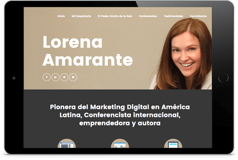 ipad-lorena-amarante Diseño Web Zaragoza