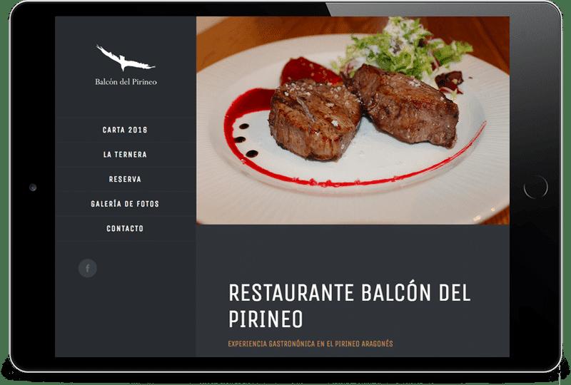 ipad-restaurante-balcon-del-pirineo Diseño Web Zaragoza