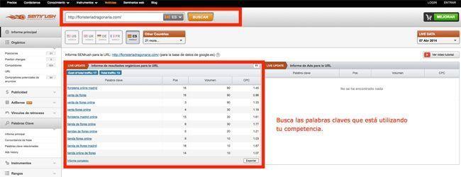 semrush-competencia Como estudiar a tu competencia en Internet de forma fácil y gratuita