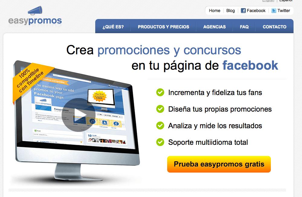 Concursos en Facebook, 3 aplicaciones