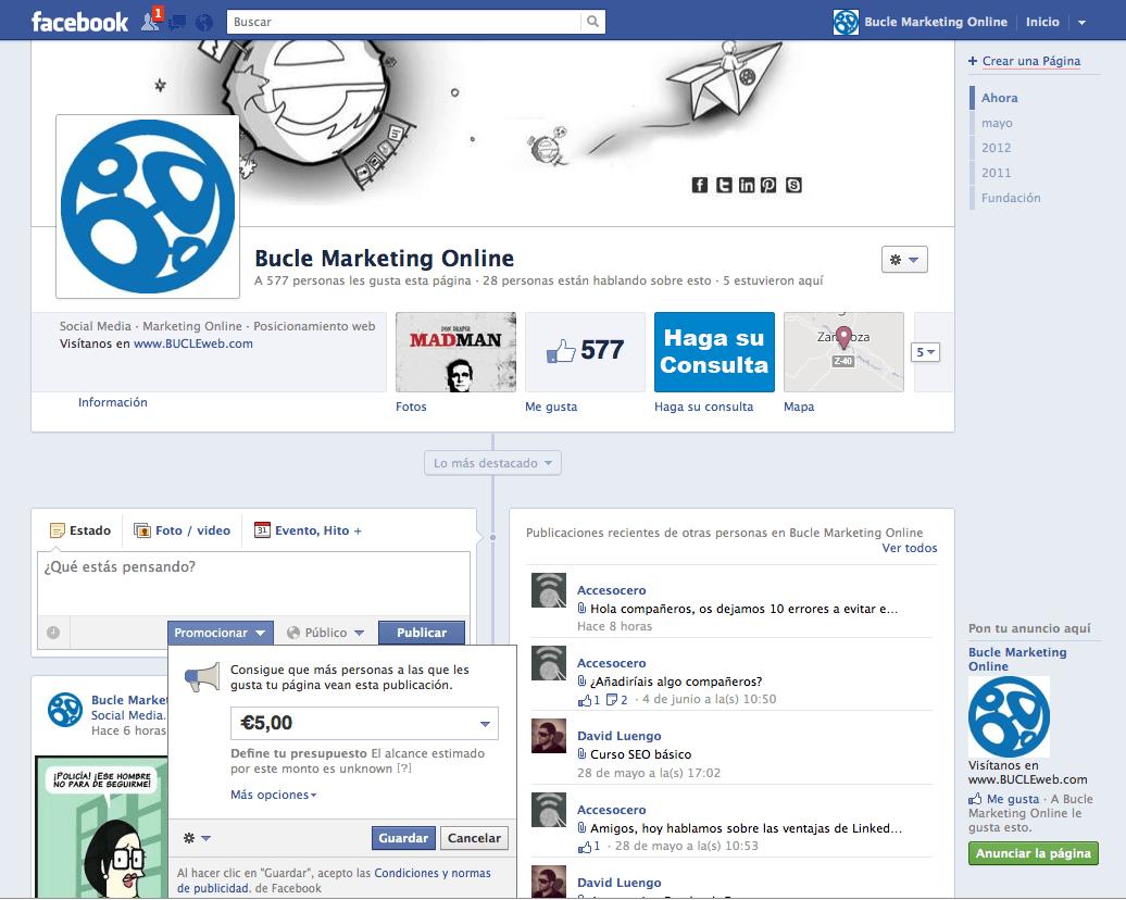 Captura de pantalla 2012 06 11 a las 19.04.40 - Nueva funcionalidad de Facebook, Promote o Post Promocional