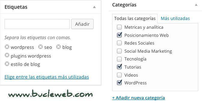categori y etiquetas bucle marketing online - 6 consejos útiles que pueden dar éxito a tu Blog