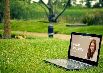 lorena amarante 1 400x284 - Nuestros trabajos de Marketing Online