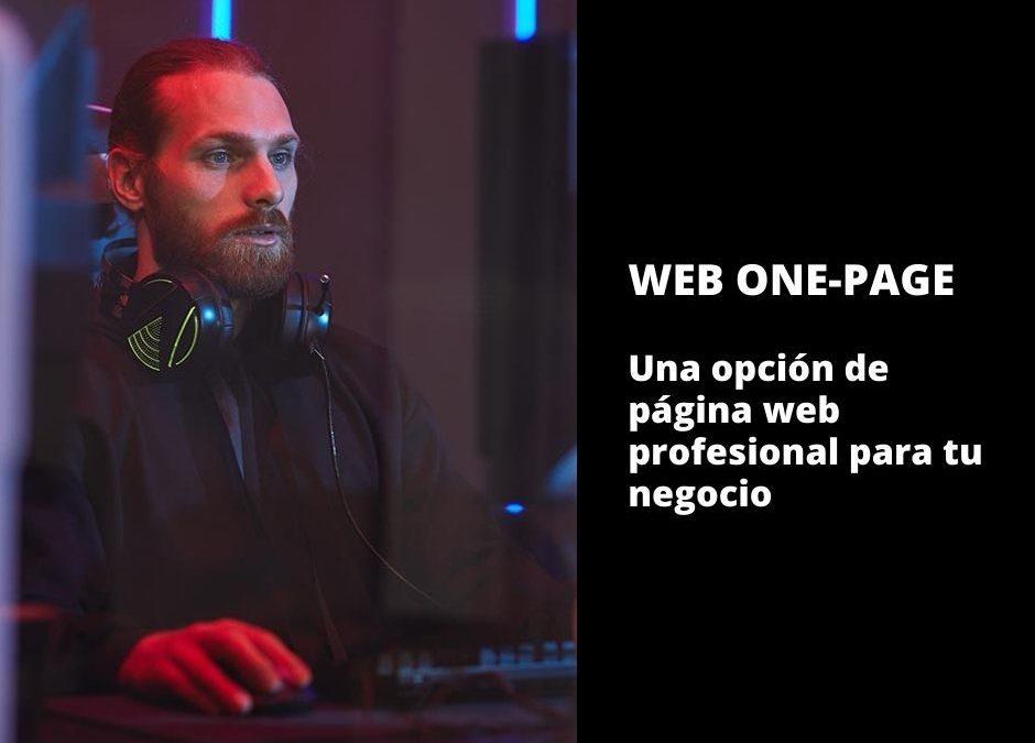 Web One-Page – Una opción de página web profesional para tu negocio