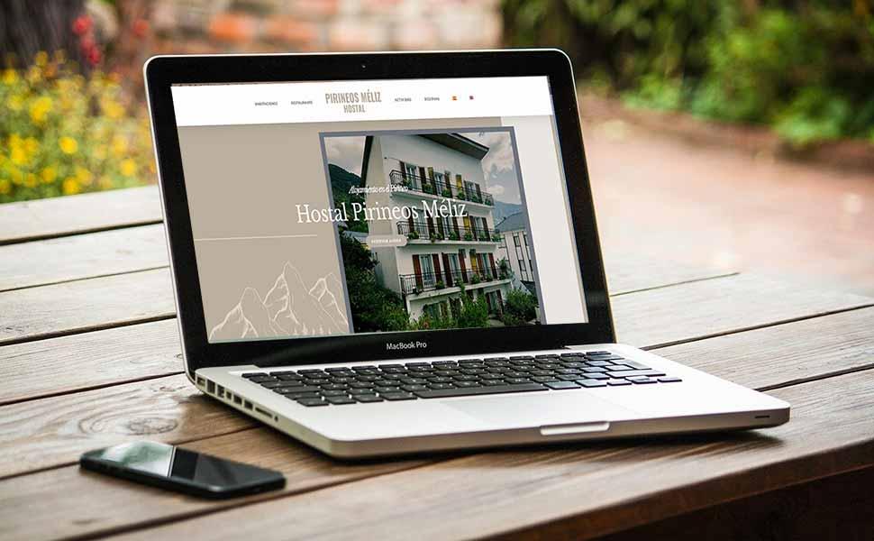 hostal pirineos meliz 1 - Diseño web One-Page