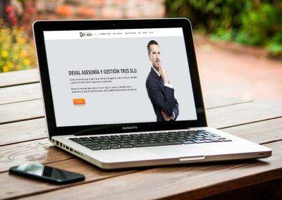 deval asesores 1 400x284 - Nuestros trabajos de Marketing Online